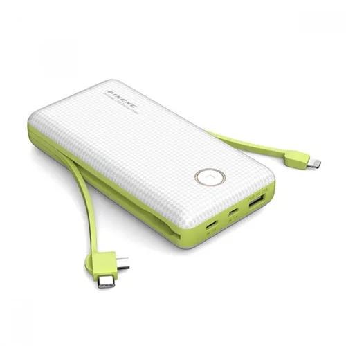 Carregador p/ celular portátil pineng 20000mah pn 959 usb