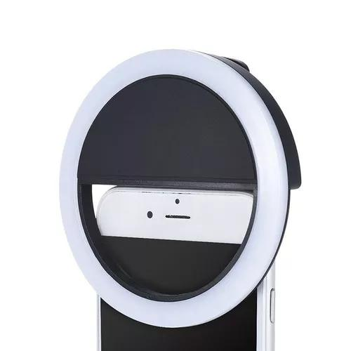 Luz selfie ring light clipe anel led flash para celulares