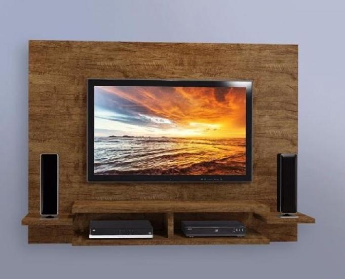 Painel para tv até 55 polegadas com prateleiras