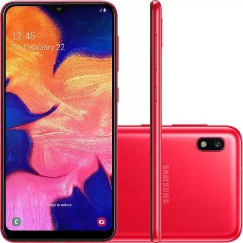 Smartphone samsung a10 tela 6.2 32gb octa-core 13mp