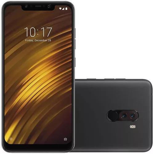 Xiaomi pocophone f1 64gb 6gb ram preto lacrado + nfe