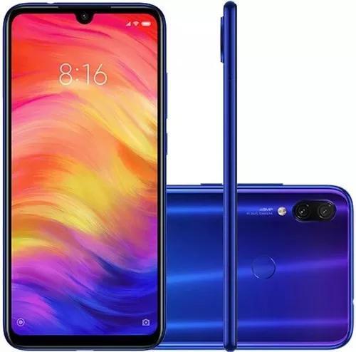 Xiaomi redmi note 7 azul 64gb + capa +pelicula 5d