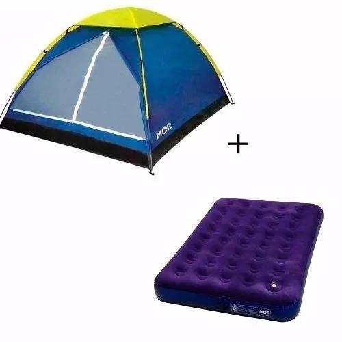 Barraca 2 pessoas mor camping praia + colchão casal