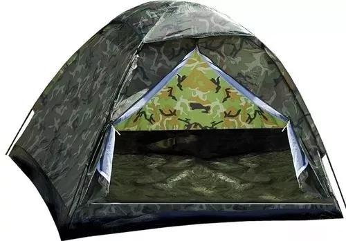 Barraca camping camuflada 4 lugares-menor preço