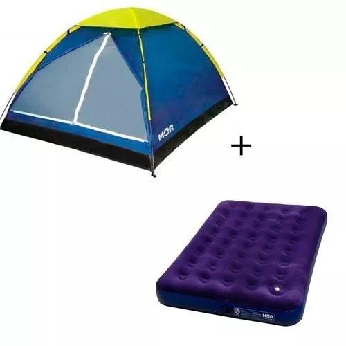 Barraca camping iglu 3 pessoas + colchão casal mor