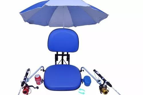 Cadeira p/ barco completa - c/ acessorios dobravel giratoria