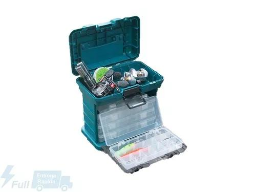 Caixa de pesca maleta organizadora 4 bandejas r