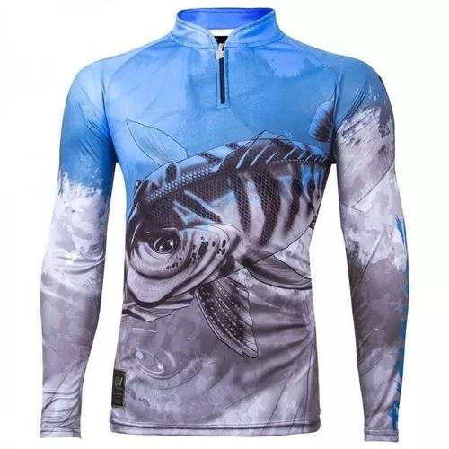 Camisa, camiseta, blusa, de pesca king proteção uv kff 106