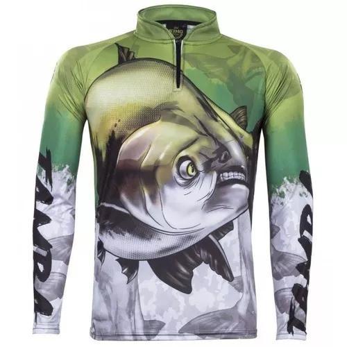Camisa camiseta pesca king proteção uv kff205 - tamba