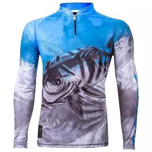 Camisa de pesca king protecao solar uv30+ viking 06