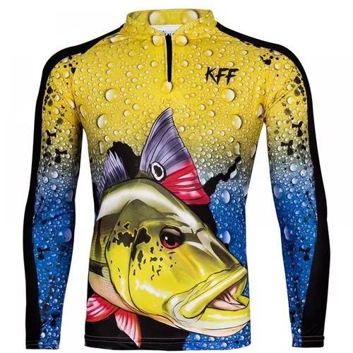Camiseta proteção solar uv pesca bike king kff 60