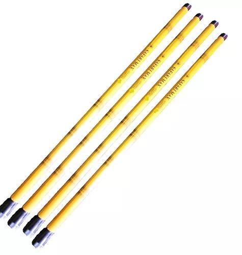 Kit 2 vara pesca telescópica 60% carbono e bambu 4 m+brinde