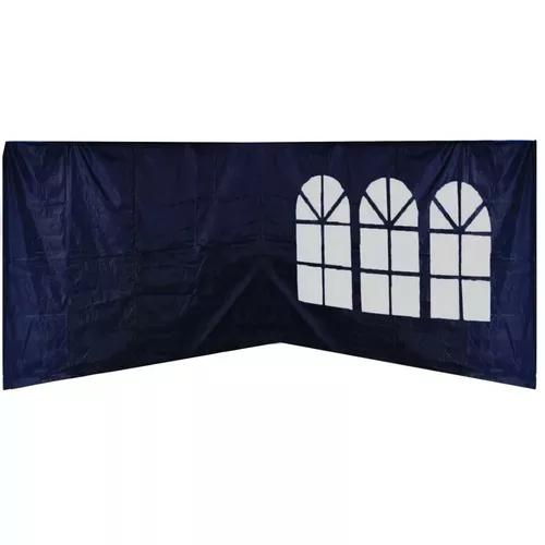 Kit 4 laterais paredes para tenda barraca gazebo 3x3m azul