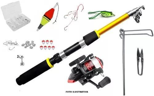 Kit pesca completo iniciantes ótimo p/ pesqueiro rios lagos