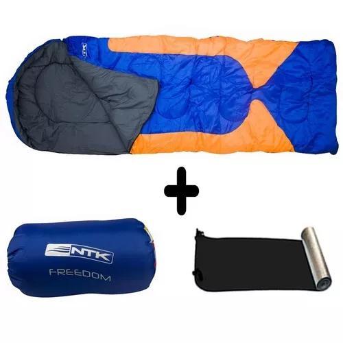 Kit saco de dormir 2.1mx75cm freedom az lj+isolante térmico