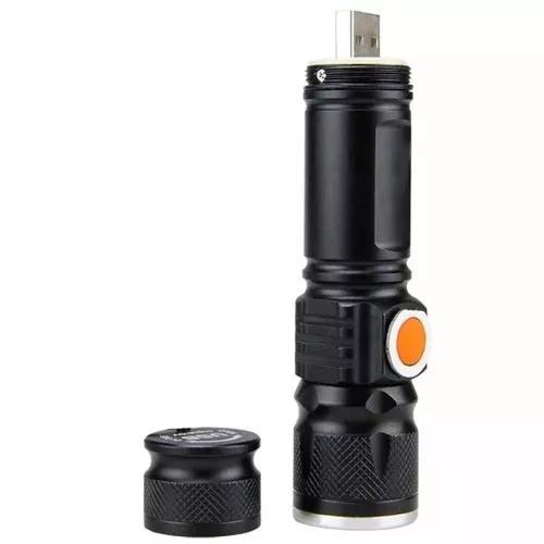Lantena profissional tatica led t6 880000w recarregavel usb