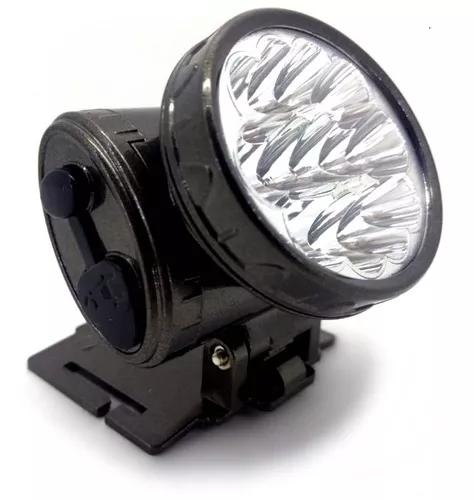 Lanterna de cabeça led cree q3 recarregável + suporte - nf