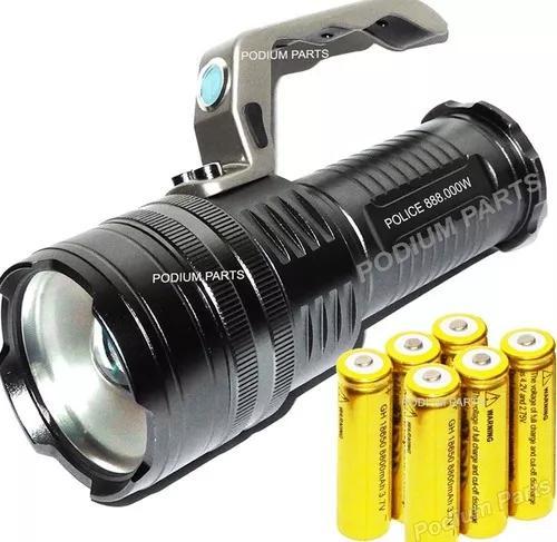 Lanterna holofote led 3240.000 lumens 6 bateria