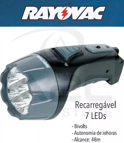 Lanterna recarregavel 7 leds bivolt 110/220 rayovac