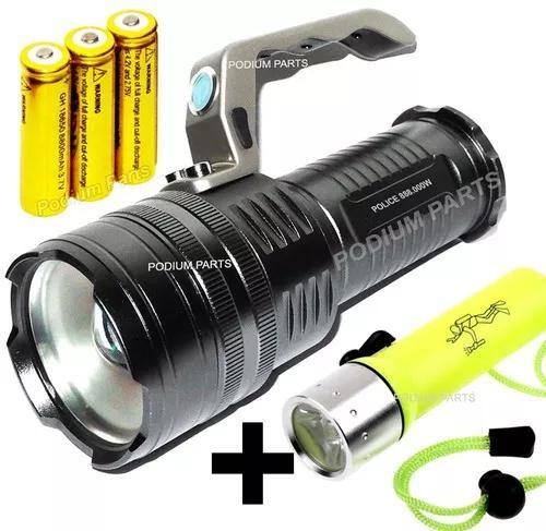 Lanterna recarregável tática holofote led l2 3240.000