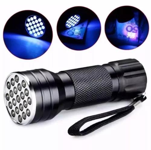 Lanterna ultra violeta luz negra 21 leds p/ notas falsas