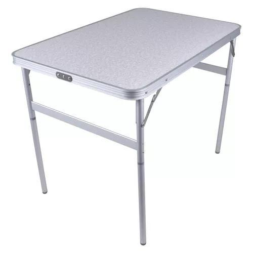 Mesa dobravel estudo camping 90x60cm aluminio