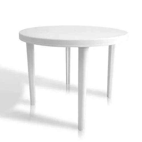 Mesa plástica redonda capri branca dolfin