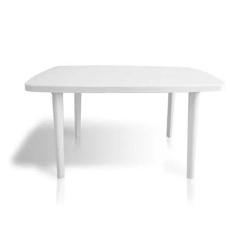 Mesa plástica retangular itaparica branca dolfin