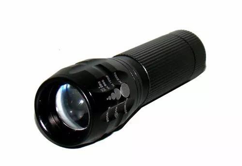 Mini lanterna tática led com zoom ajustavel 1x até 2000x