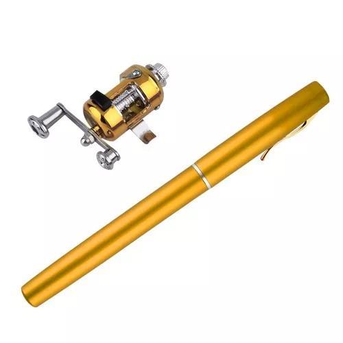 Mini vara de pesca com carretilha tipo caneta frete grátis