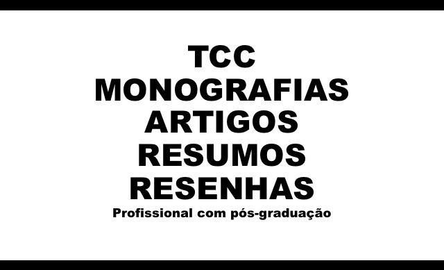 Produção de tcc- artigos- resumos entre outros