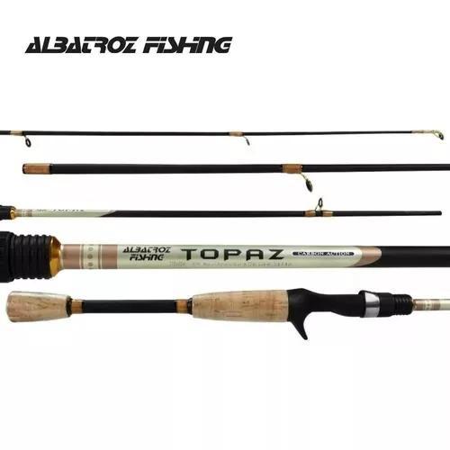 Vara para carretilha albatroz topaz 1,80m 6-12lbs