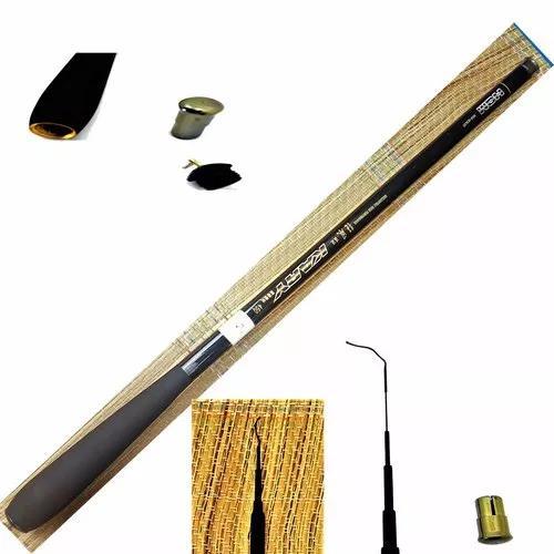 Vara pesca 100% fibra carbono telescópica ultra leve 4,5m