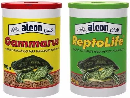Ração alcon reptolife 270g + gammarus 110g réteis