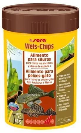 Ração alimento para peixes de fundo sera wels chips 38gr