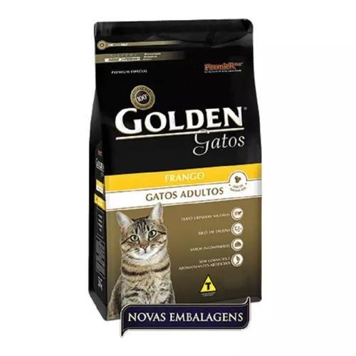 Ração golden gatos adultos frango - 10 kg.