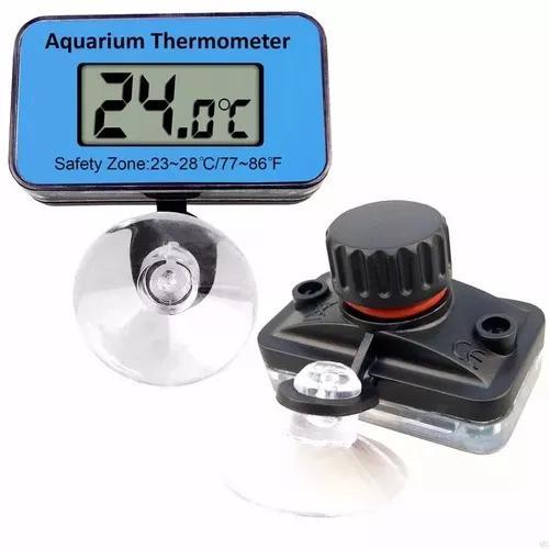 Termômetro digital lcd para aquário submerso com ventosa