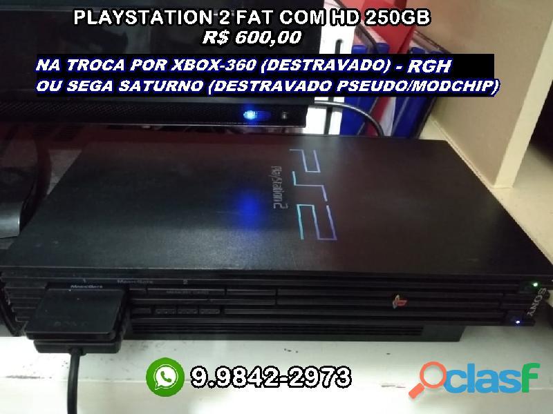 Playstation 2 fat scph 39001 (leia descrição)