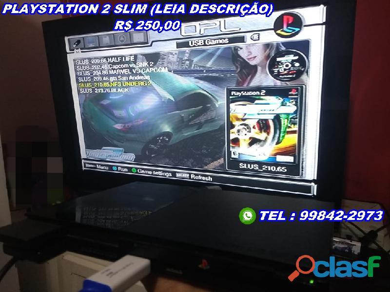 Playstation 2 slim venda ou troca (leia descrição)