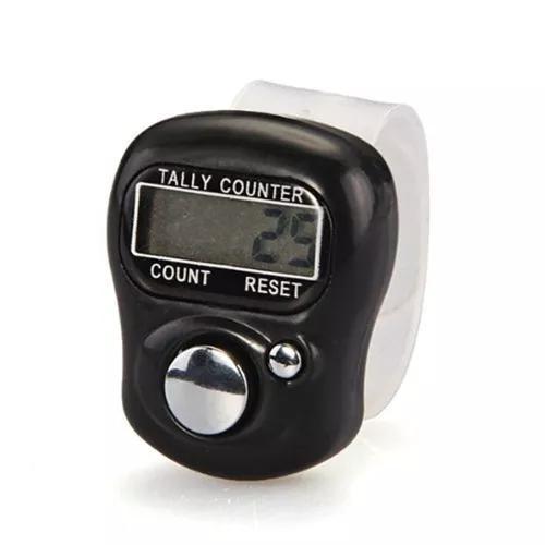 Anel contador digital profissional tela lcd dedo preto