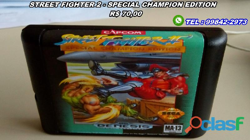 Cartuchos/fitas Mega Drive
