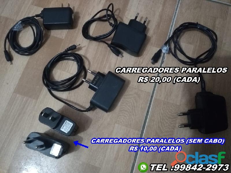 Itens diversos carregadores e modem's (valor na descrição)