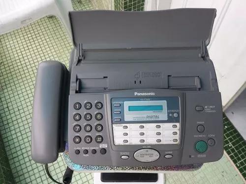 Fax panasonic kx-ft908 c/ secr. eletrônica e cortador auto.