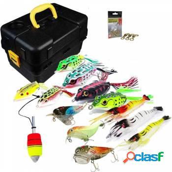 Kit de pesca: chicote/ isca/girador/anzol/boia/caixa/snap