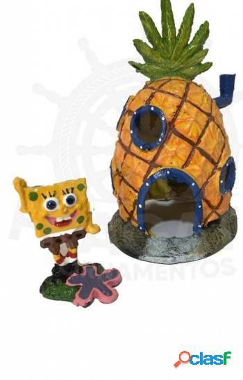 Casa do bob esponja com 1 bob esponja lindo kit