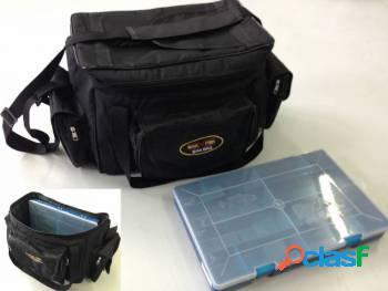 Bolsa max bag para pesca + estojo papa isca
