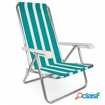 Cadeira mor reclinável alumínio 4 posições