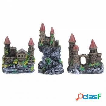 Kit 3 peças castelo medieval para seu aquário