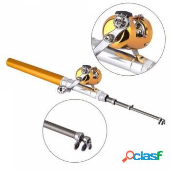 Kit 3 mini varas telescópicas de bolso com carretilha