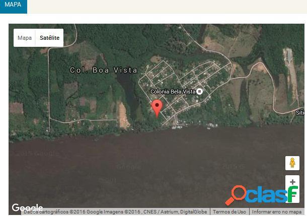 Vendo terreno comercial - margem (beira) esquerda do rio solimões